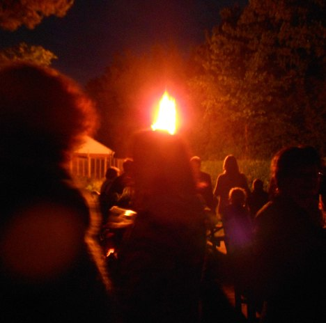 In June we celebrated the Diamond Jubilee of Elizabeth II. Once again with friends, and also with a lighted beacon.