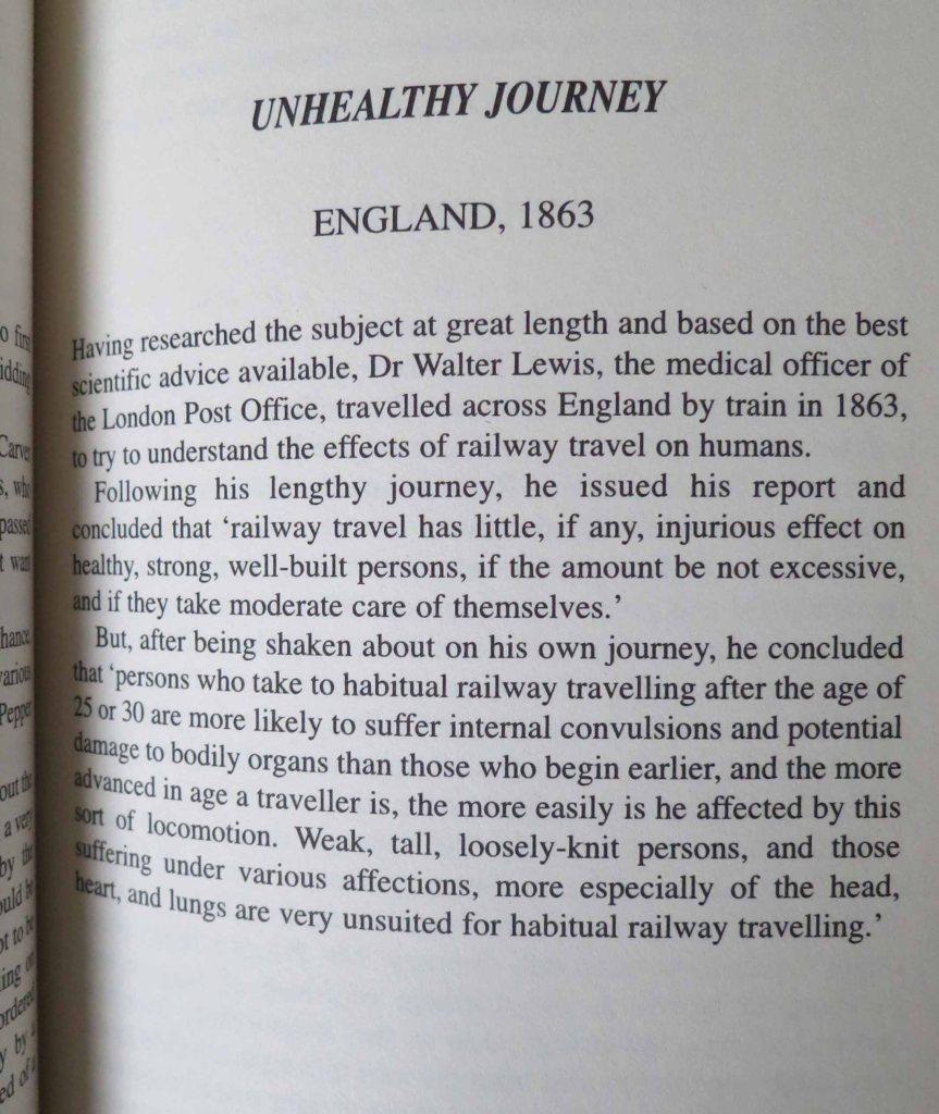 train journey - health