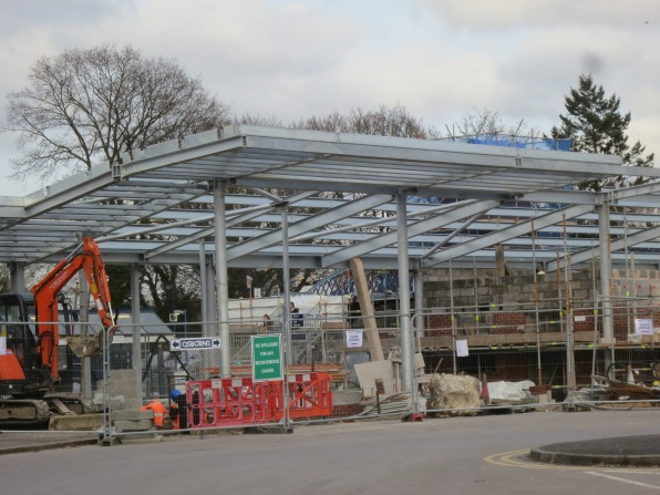 Work began on the rebuild of our local station