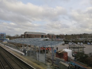 Having complained about the lack of facilities commuters now complained about the work in progress